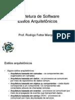 13 Arquitetura de Software - Estilos Arquitetônicos