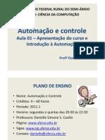 Aula 01 - Introdução à Automação e Controle