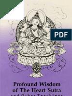 Bokar Rinpoche, Profound Wisdom of the Heart Sutra