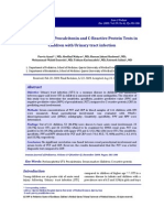 Comparison of Procalcitonin and CReactive
