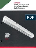 Holophane Emergency Lensafe Series Brochure 4-73