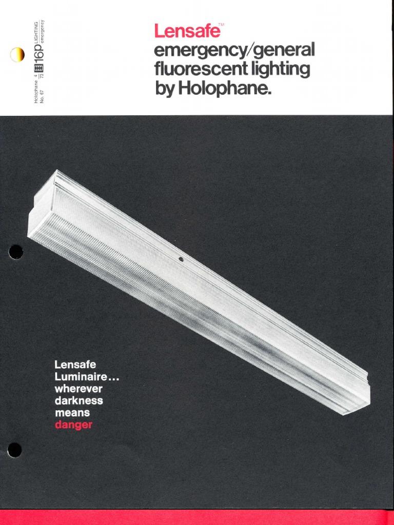 Holophane Emergency Lights Wiring Diagram Electrical Diagrams Up A Light Lensafe Series Brochure 4 73 Lighting