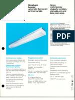 Holophane Emergency Lensafe Series Brochure 8-79