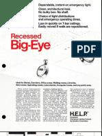 Holophane Emergency Recessed Big-Eye Series Brochure 1972
