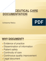 pharmaceutical care documentation