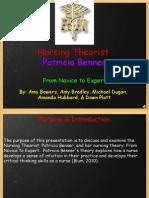 patricia benner nursing theorist2