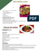 Recipe Book for Comenius Partners
