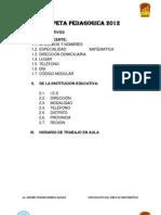 CARPETA PEDAGOGICA 2012pùno