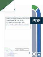 Protocolo Evaluacion Del Riesgo y Prevencion de Caidas de Los Pacientes Ingresados en La Cooperativa Medica de Rocha