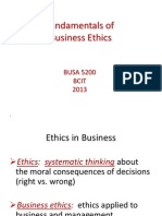 Ethics 2013 Class notes BCIT