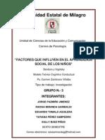 Proyecto Factores Que Influyen en El Aprendizaje Social