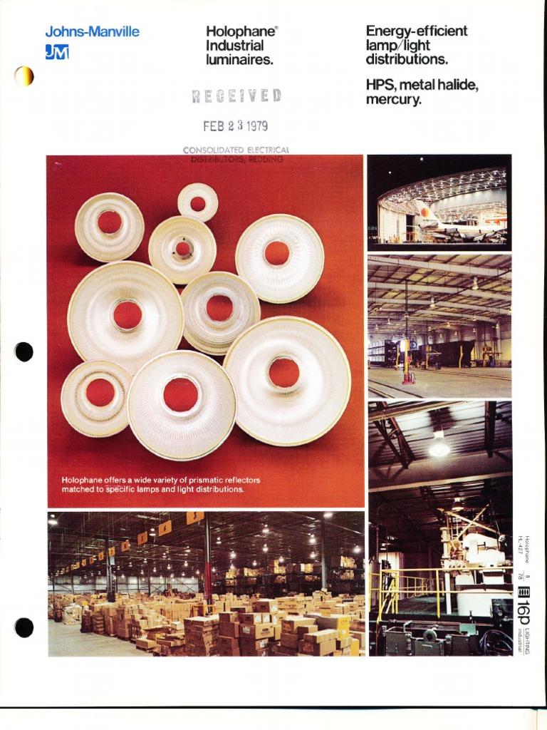Holophane Metal Halide Wiring Diagram Simple Industrial Luminaires Brochure 8 78 Fuse Electrical Ge Diagrams
