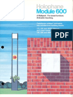 Holophane Module 600 Series Brochure 12-74