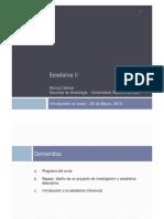 Estadistica II - Clase 1