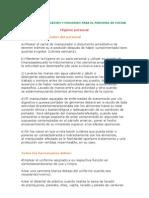 MANUAL DE ORGANIZACIÓN Y FUNCIONES PARA EL PERSONAL DE COCINA