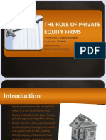 The Role of Private Equity Firms - Rizwan