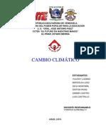 cambio climático informe