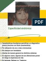 especificidad sindromica