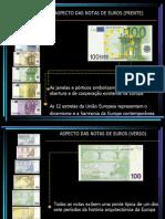 Verificação de notas e moedas EURO