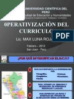 OPERATIVIZACION UCP 2012