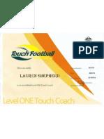 touch football australia level 1 coaching