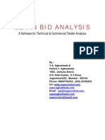 Learn Bid Analysis-Software for Analysis of Bids Contracts Vendors Evaluation