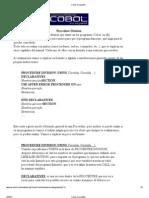 Cobol Procedure Division
