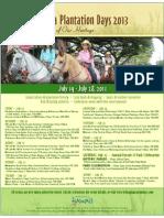 KoloaPlantationDays2013-EventSchedule