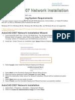 AutoCAD 2007 Network Installation