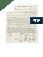 Declaracion de Independencia de EE.uu
