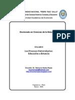 Silabo de Procesos Universitarios Educacion a Distancia2
