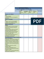 Assessment Rubric ePortfolio April 2013
