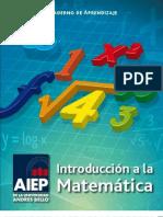 Cuaderno de Aprendizaje Introducción a la Matemática 2012