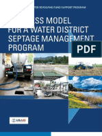 Business Model for a Water District Septage Management Program