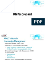 KM Scorecard