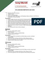 MYL Executive Job Descriptions 2013-2014