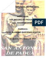 Plan Parroquial San Antonio de Padua