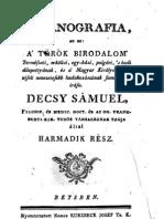 Decsy Sámuel - Osmanografia 3.rész 1789.