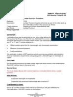 Lumbar Puncture Guidelines