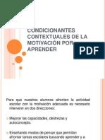 CONDICIONATNES CONTEXTUALES DE LA MOTIVACIÓN POR APRENDER