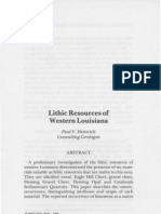 Lithic Resources of Western Louisiana