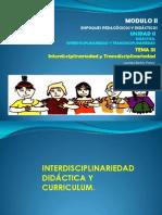 3 Interdisciplinariedad y Transdisciplinariedad