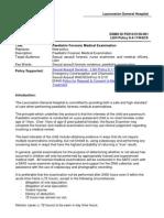 Paediatric Forensic Medical Examination