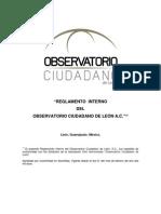 Reglamento Interno Del Observatorio Ciudadano de Leon AC