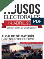 Irregularidades en Las Elecciones Presidenciales
