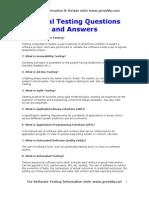 Manual Testing Q&A