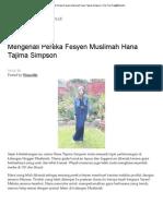 Mengenali Pereka Fesyen Muslimah Hana Tajima Simpson _ One Fine Day@Wanville