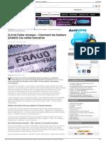 Cyber Arnaque - Comment Les Hackers Piratent Vos Cartes bancaires