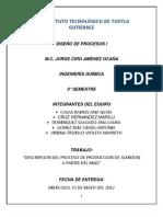Descripcion Del Proceso de Produccion de Almidon