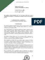 Decreto Ejecutivo 69 Del 17 de Abril 2013 (Permiso de Trabajo a Extranjeros Profesionales)